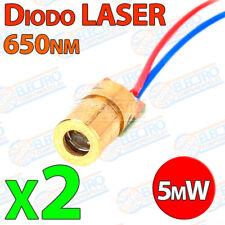 2x Diodo LASER Rojo 650nm 5mW 6mm Eletronica Arduino