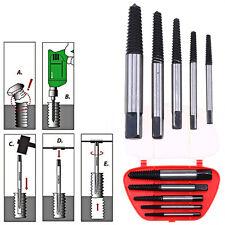 5Pcs Screw Extractor Set Drill Bits Broken Damaged Bolt Remover Accessories Kit
