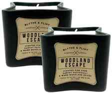 Two Blythe and Flint Woodland Escape Scented Candles in Ceramic Containers