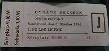 Ticket 6.10.84 Dynamo Dresden 1.FC Lok Leipzig DDR Oberliga Eintrittskarte HFC