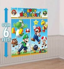 SUPER MARIO BIRTHDAY PARTY SUPPLIES SCENE SETTER WALL POSTER DECORATIONS