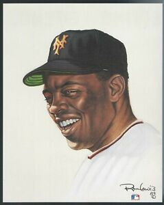 WILLIE MAYS 8 x 10 Living Legends print by Ron Lewis - UNSIGNED