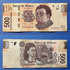 🎊Birthday 2014 Fancy Serial Number $500 Mexican Pesos Mexico 2013