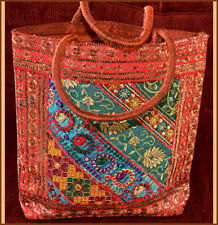 HAND CRAFTED LARGE MULTIPLE USE HAND BAG/SHOPPING BAG/EVENING BAG FROM INDIA