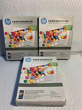 "(5 Kits) HP Card & Invitation Kit w/Glossy Photo Cards & Envelopes 5""x7"" K6B84A"