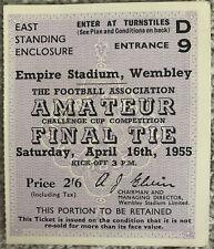 More details for bishop auckland v hendon amateur cup final ticket 1955