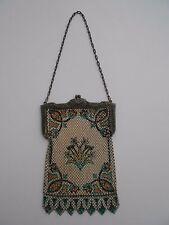 Vintage Mandalian Antique Enameled Mesh 1920's Art Deco Purse Handbag