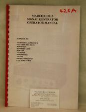 Marconi 2015 Signal Generator Operators Manual Photocopy
