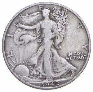 1942-D Walking Liberty 90% Silver US Half Dollar *266