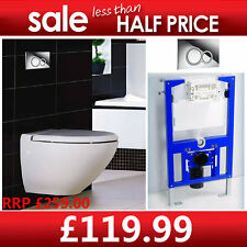 Half Price-Europa Wall Hung Concealed WC Toilet Frame & Duel Flush Cistern