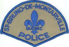 St-Bruno-de-Montarville Police Quebec, Canada HTF Vintage Uniform/Shoulder Patch