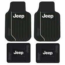 New 4pc Jeep Elite Front & Back All Weather Heavy Duty Rubber Floor Mats Set