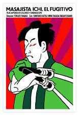 Decor movie Poster 4 film ZATOichi Japanese warrior.Shintaro Katsu samurai.Japan
