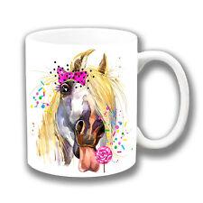 Horse Licking Lollipop Ceramic Coffee Tea Mug 10oz Artistic Modern Design
