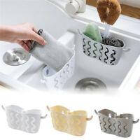 Kitchen Bathroom Sponge Sink Tidy Holder Suction Strainer Organizer Small Basket