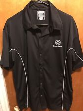 VOLKSWAGEN ~ Men's Large ~ Drivers Wanted Work Uniform Style S/SLV Casual Shirt