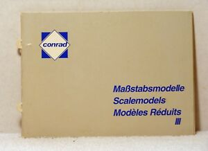 52 Pg Book CONRAD SCALE MODELS CATALOG III Diecast Truck Construction Vehicle