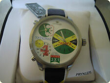 """Orologio Pryngeps Nuovo Quarzo A425/3 """"3 TIME VOYAGER"""" National Jamaica"""