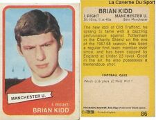 086 BRIAN KIDD MANCHESTER UNITED CARD ENGLAND SCOTLAND PREMIER LEAGUE 1969 AB&C