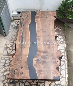 Beautiful maple river dinning table, resin Acacia Wood epoxy table, custom Decor