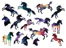Waterproof Temporary Fake Tattoo Stickers Watercolor Unicorn Horse Animals