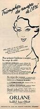 ▬► PUBLICITÉ ADVERTISING AD Crème Jean d'Albret ORLANE Pierre Simon 1951