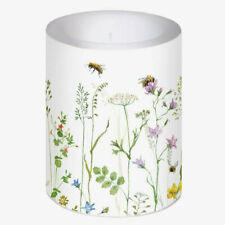 *Daniela Drescher**Große Lampion & Dekorkerze*Kerze*Bienen*Blumenwiese*