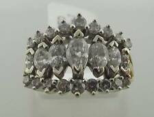 14KT YELLOW GOLD 1.25 CTTW MARQUISE & ROUND DIAMOND RING SIZE 6.5 (21R 30-10292)