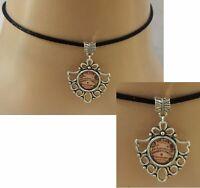 Ouija Board Choker Necklace Pendant Handmade Black Silver Spirit NEW Fashion