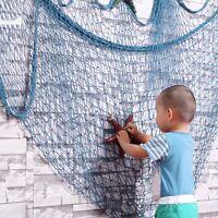 Nautical Seaside Beach Ocean Fishing Net Sea Shell Home Wall Party Decor 2color
