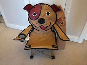 Child's Folding Chair Dog Design for camping, garden, beach or picnic GOOD COND