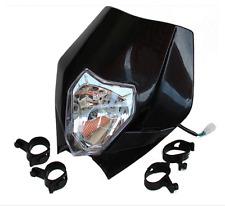35W Street Fighter Headlight Fairing Headlamp Black For Yamaha TTR225 YZ125 KTM