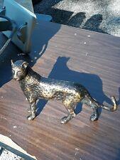 Vintage Nice Brass Leopard / Cheetah Figurine, 8.5� long X 6 1/8� tall. Detailed