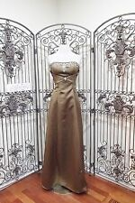 L27 ALEXIA 2812 SZ 10 GREEN OLIVE MOSS CHOCOLATE BRIDESMAID GOWN DRESS