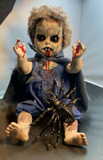 """CREEPY EVIL AGNES Horror Zombie Doll  Undead Halloween Prop 18 """" recycled vile"""