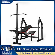 Bench Press Squat Deadlift Biceps Curl Triceps Curl Lat Pulldown Home gym Set..