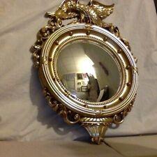 Federal Convex Mirror. Gold.