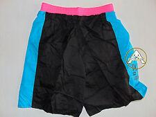 Vintage 90 BRUGI Boxer L Shorts Costume Beach Pantaloncini NERO NOS 80 OS FUCSIA