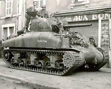 WW2  Photo M4 Sherman Tank US Army  France 1944  WWII World War Two