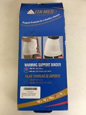 ITA-MED TGR-201 Wool Warming Support Binder X-Large Lumbar Supports, New.