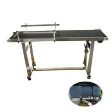 "59""*11.8"" Black PVC Belt 110V Electric Conveyor Systems Machine 0-28m/min Speed"