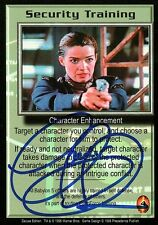 Babylon 5 Ccg Claudia Christian Deluxe Edition Security Training Autographed