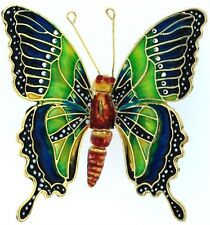 Kubla Articulated fancy blue-green butterfly ornament. Gorgeous! Insect.
