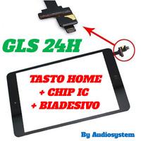 "GLASS+TOUCH SCREEN APPLE IPAD MINI 2 7,9""+IC CHIP+BUTTON BLACK A1489 A1490 A1491"