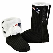 Forever Collectibles NFL Football Ladies Knit High End Button Boot Slippers -...