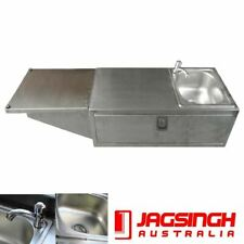 Stainless Steel Camper Trailer Kitchen Swing Out Sink Tap Pull Out Drawer