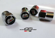 Chrome Honda Mugen Power Wheel Valve Dust Caps. Civic Integra Accord Type R