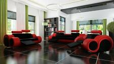Sofa Polster  3+2 Sitz Designer Sofa Ledersofa SOFORT LIEFERBAR Couch Garnitur