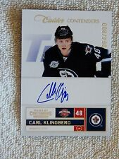 Winnipeg Jets Carl Klingberg 11/12 Calder Contenders Auto Rookie Card #64/800