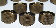 5 Solid Adjustible Band RING Base Blanks Finding Settings Brass Steampunk DIY